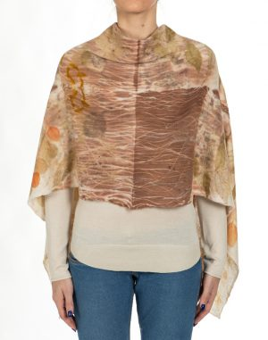 poncho stampa vegetale