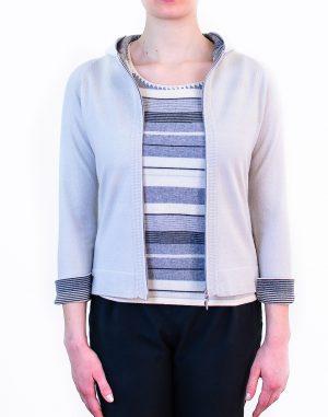 maglia con cappuccio e zip