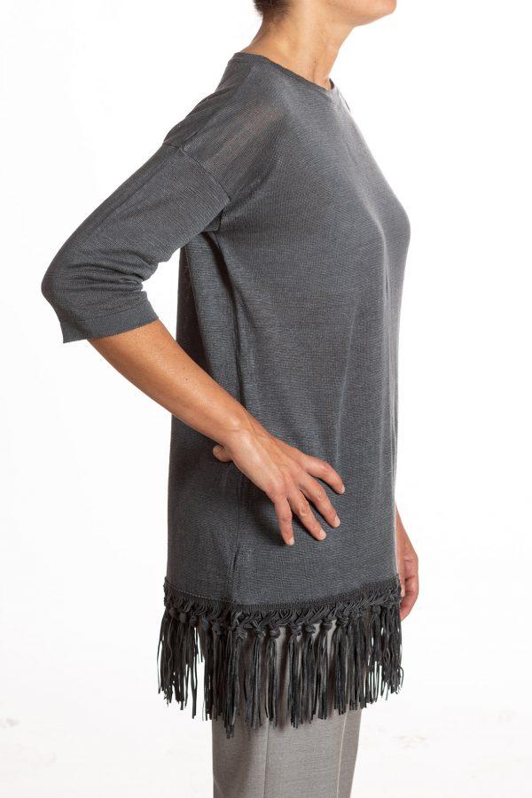 maglia lino frange